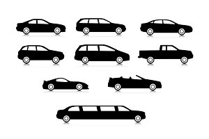 Vector car silhouttes