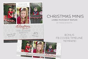 Holiday Mini Session Photo Template