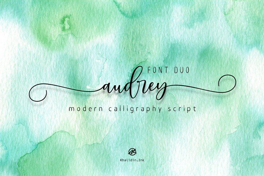 audrey Script Font Duo