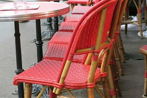 Paris Bistro Chairs in Red