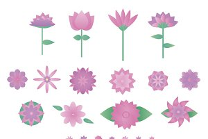 Set 13 Geometric Lovely Flowers