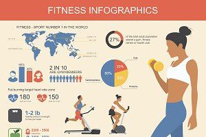 Fitness and sport infographic