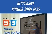 Responsive Coming Soon Page HTML/CSS