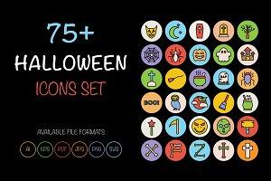 75+ Halloween Icons Set