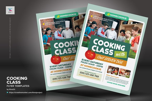 Cooking Class Flyer Template from images.creativemarket.com