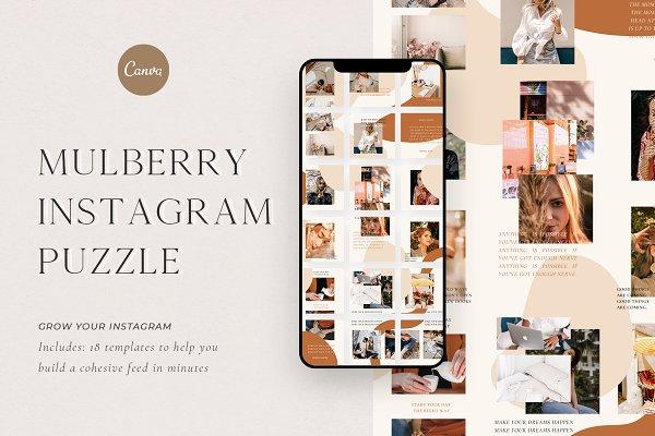 Mulberry Instagram Puzzle | CANVA