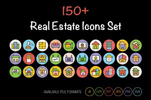 150+ Real Estate Icons Set