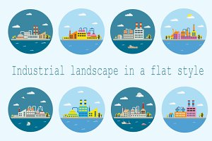 Flat industrial landscape