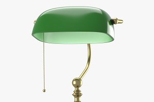Old style lamp with green dome