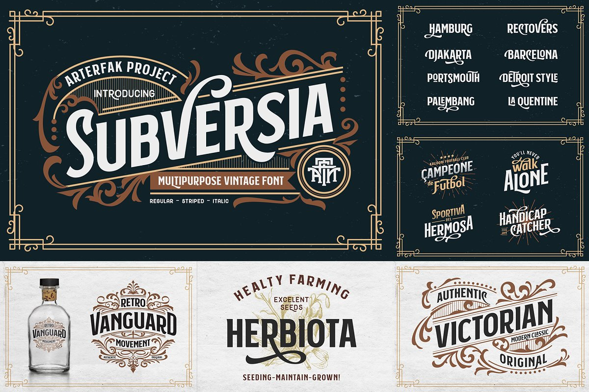 Font Bundle 2019 | 93%OFF in Display Fonts - product preview 17