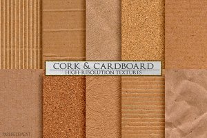 Cork & Cardboard High-Res Textures
