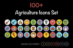 100+ Agriculture Icons Set