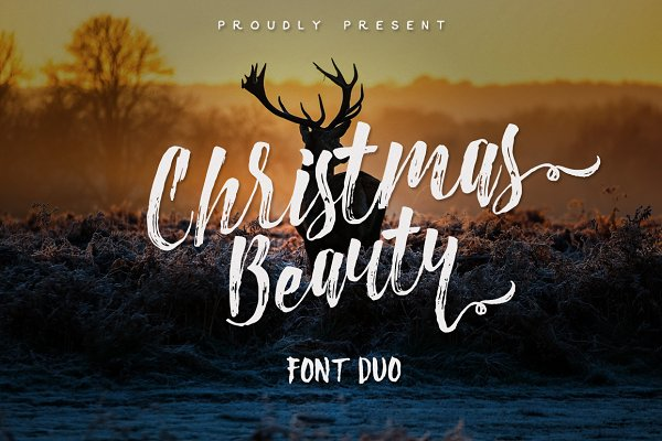Christmas Beauty Font Dou+Swashes