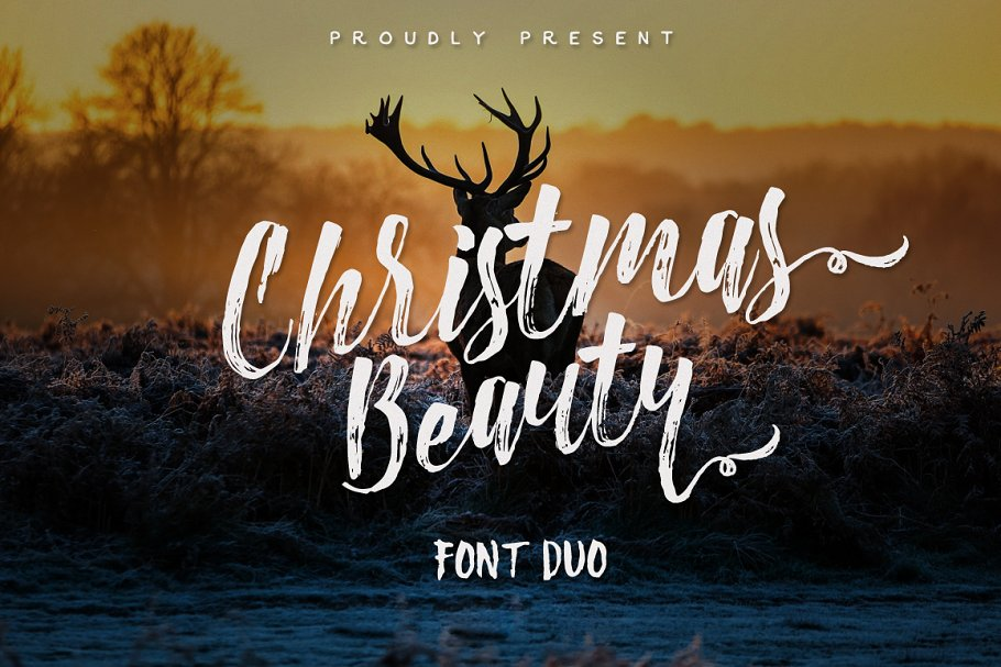 Christmas Beauty Font Dou+Swashes