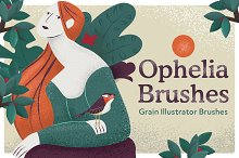 Ophelia Grain Vector Brushes