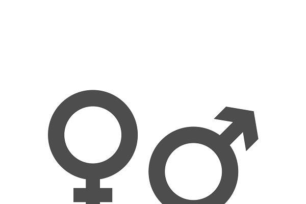 gender icon and male female symbol pre designed photoshop graphics creative market gender icon and male female symbol