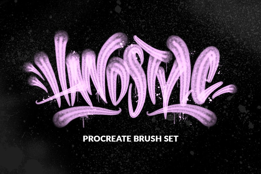 Handstyle Graff Procreate Brush Set