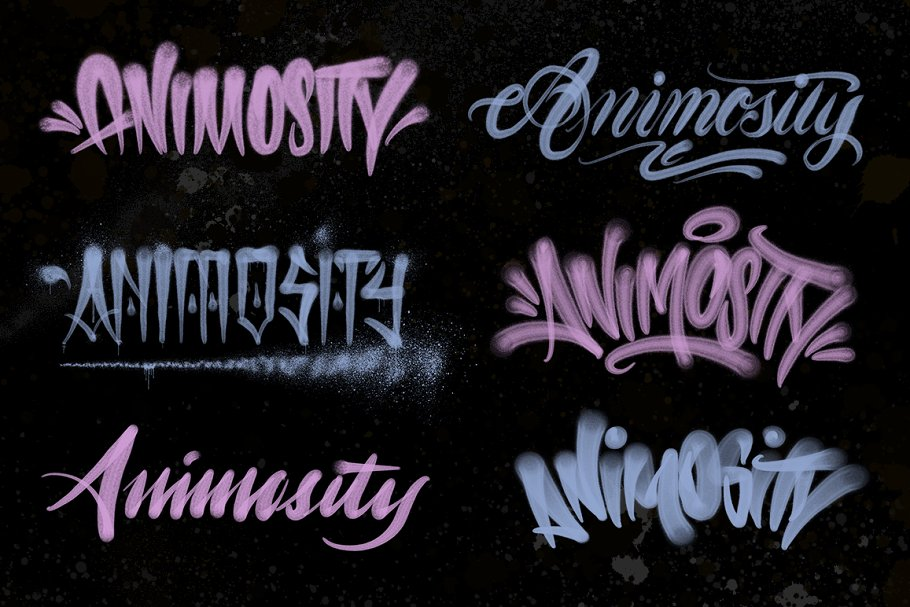 Handstyle Graff Procreate Brush Set in Add-Ons - product preview 5