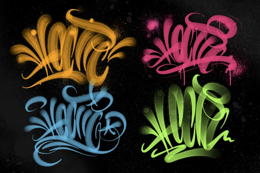 Handstyle Graff Procreate Brush Set in Add-Ons - product preview 6