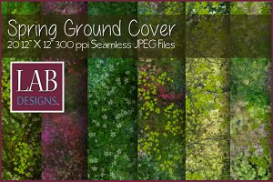 Seamless Spring Ground Cover
