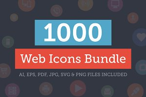 1000+ Web Icons Bundle