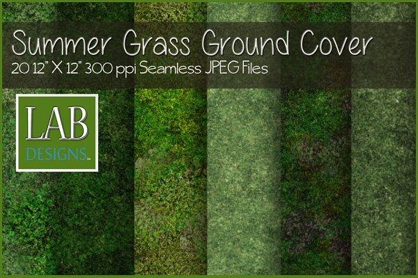 Seamless Summer Grass Ground Cover