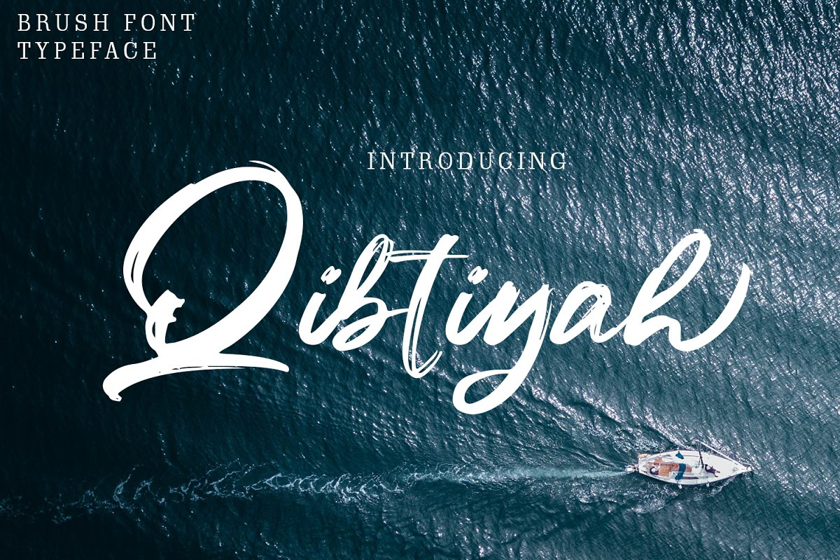 Qibtiyah Brush Font in Display Fonts - product preview 8