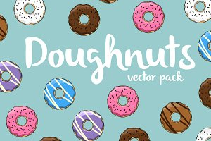 Doughnuts vector pack