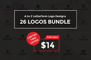 A to Z Letterform Logo Bundle