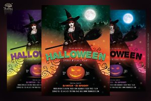 Halloween Witches Party Flyer