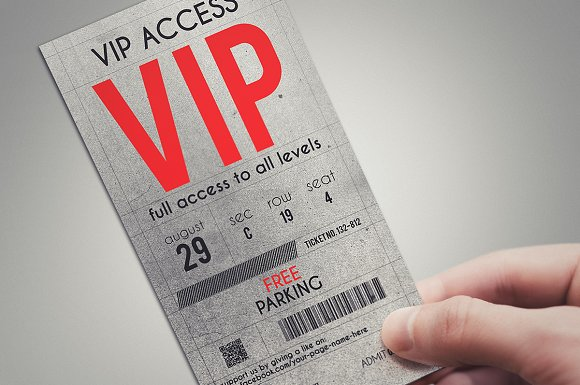 Us Pport Po Template | Stylish Vip Pass Template Card Templates Creative Market