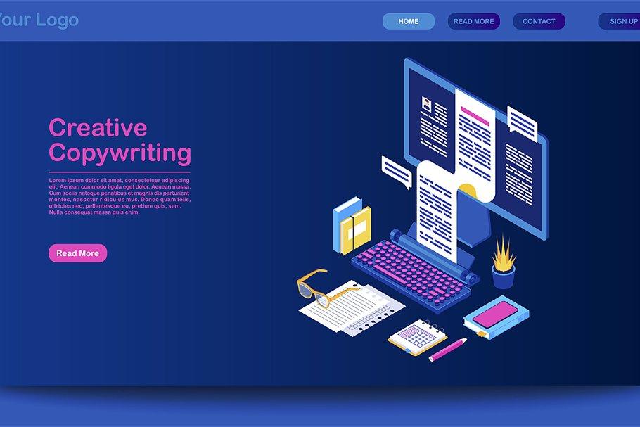 Creative copywriting landing page