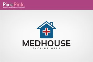 Med House Logo Template