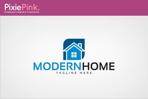 Modern Home Logo Template