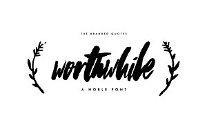 Worthwhile Font 50% Discount!