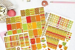 October Printable Planner Stickers