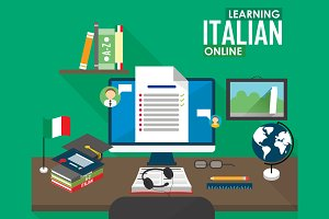 E-learning Italian language.