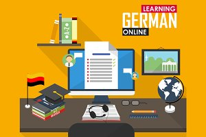 E-learning German language.