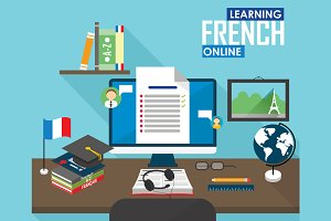 E-learning French language.
