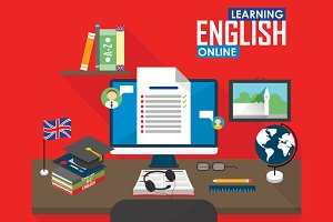 E-learning English language.