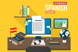 E-learning Spanish language.