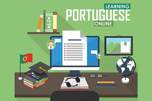 E-learning Portuguese language.