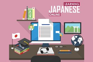 E-learning Japanese language.
