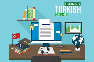 E-learning Turkish language.