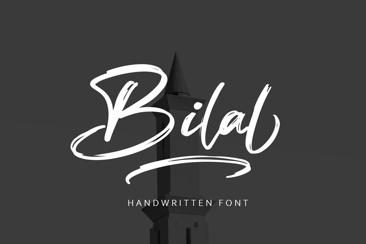 Bilal Brush Handwritten Font in Display Fonts - product preview 8