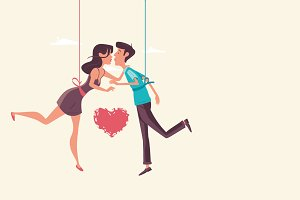 Love VECTOR Concept - Young couple