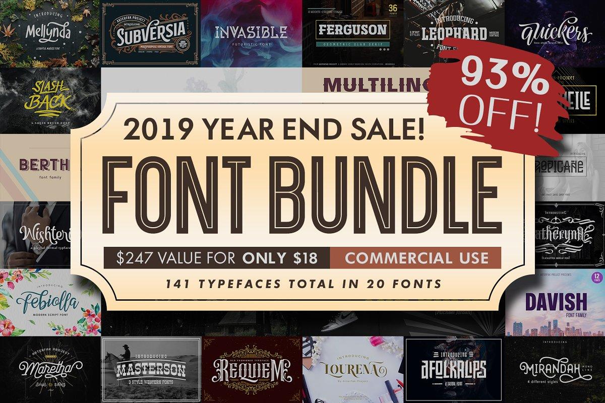 Font Bundle 2019 | 93%OFF