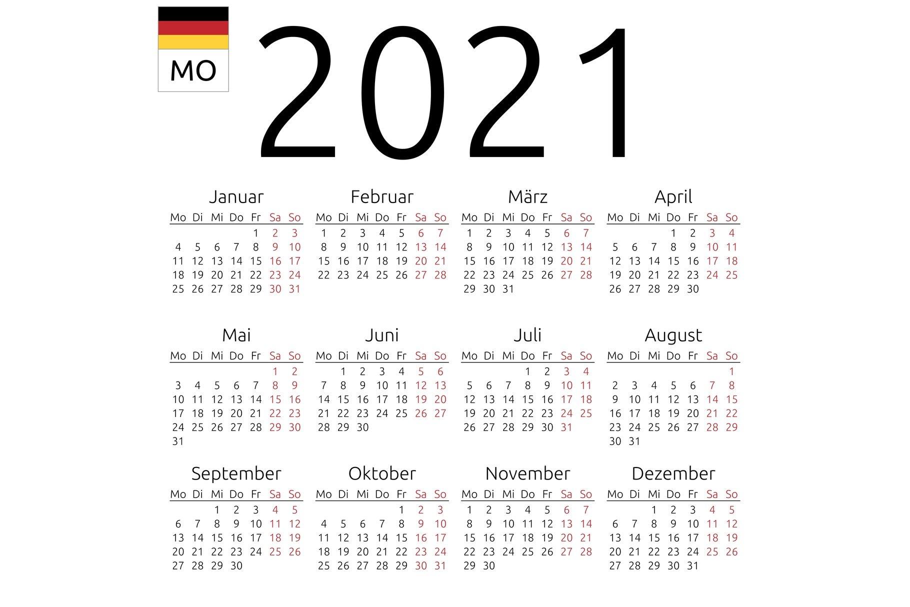 German Holidays 2021