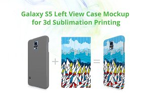 Galaxy S5 3d Case Left Mock-up