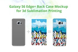 Galaxy S6 Edge Plus 3d Case Mockup